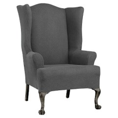 Sure Fit Wing Chair Slipcover Fishing Small Stretch Twill Target