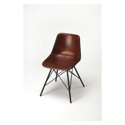 leather side chair seat lift butler specialty inland brown target about this item