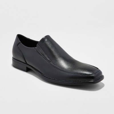 Slip On Shoes Black Leather