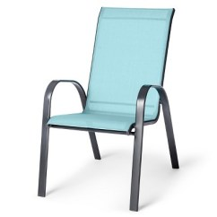 Turquoise Patio Chairs High Sling Stacking Chair Threshold Target