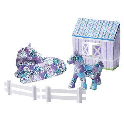 Melissa & Doug Decoupage Made Easy Deluxe Craft Set - Horse & Pony