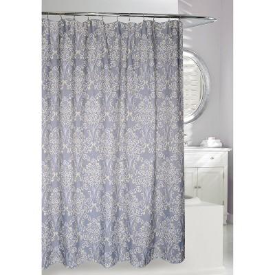 classic elegance shower curtain gray yellow moda at home
