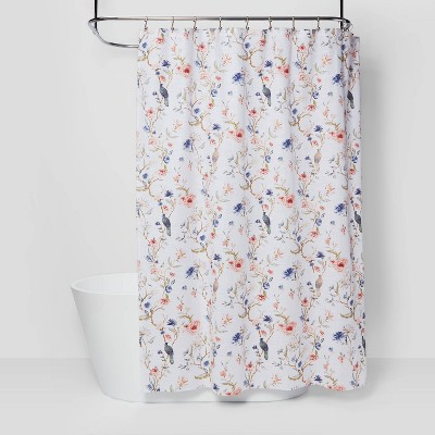 floral bird shower curtain threshold