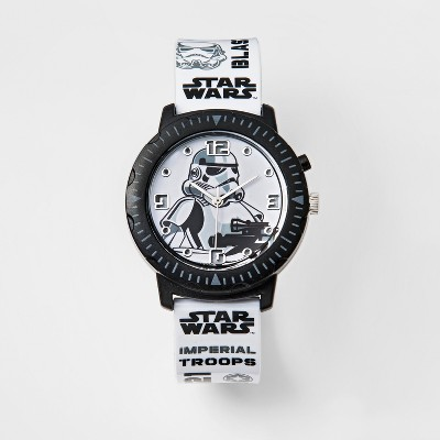 Kids Star Wars Stormtrooper Rotating Lights Analog Watch