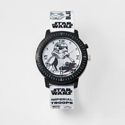 Kids Star Wars Stormtrooper Rotating Lights Analog Watch