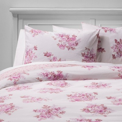 Cactus Rosebloom Duvet & Sham Set Pink Blush - Simply Shabby Chic®