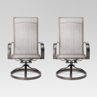patio swivel rocker chairs orange leather chair camden 2pk dining threshold target