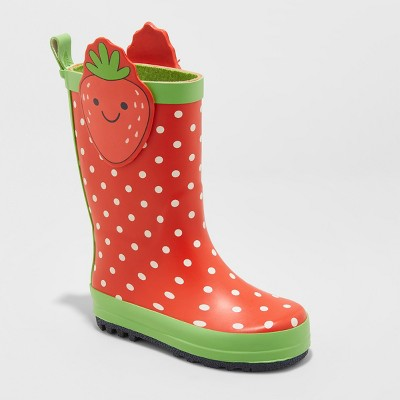 Toddler Girls' Maddison Strawberry Rain Boots - Cat & Jack™