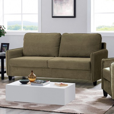 microfiber sofas beach house sleeper sofa sandy with storage dark taupe lifestyle solutions target