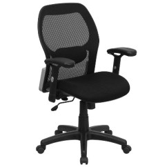 Executive Mesh Office Chair White Chairs Mid Back Black Super Swivel With Padded Seat Belnick Target