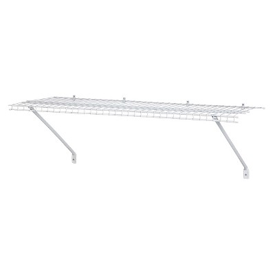 "ClosetMaid 36"" Wall-Mounted Wire Utility Shelf - White"