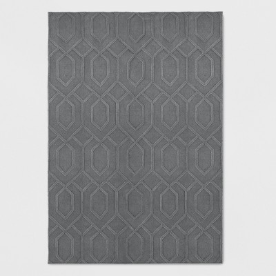 Wool Carved Tufted Area Rug - Project 62™
