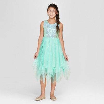 Girls' Sequin Dress - Cat & Jack™ Blue