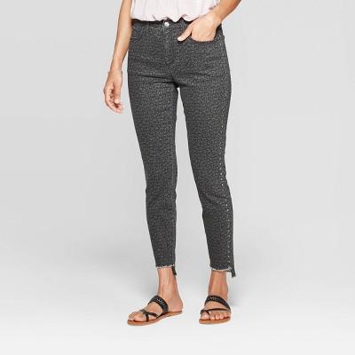 Women's Animal Print Mid-Rise Pull-On Full Length Fashion Pants - Knox Rose™