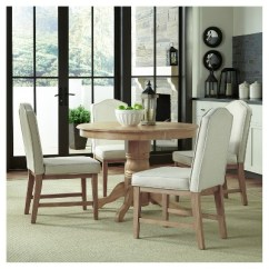 Upholstered Chairs For Dining Room Pier One Chair Covers Michael 42 Round Table With Set Of 4 White Wash Home Styles Target