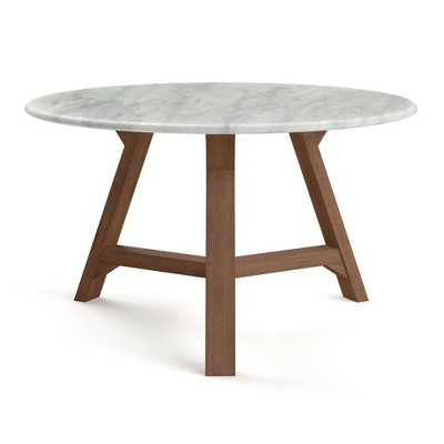 31 5 aubrey coffee table with faux marble top walnut aeon