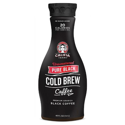 Califia Pure Black Unsweetened Cold Brew Coffee - 4 : Target