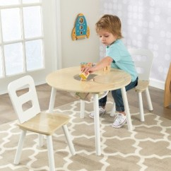 Kidkraft White Table And Chairs Leather Bedroom Chair Round Natural Set Of 2 Target