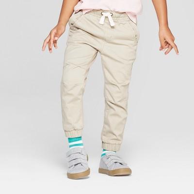 Toddler Boys' Stretch Twill Front Jogger Pants - Cat & Jack™ Khaki