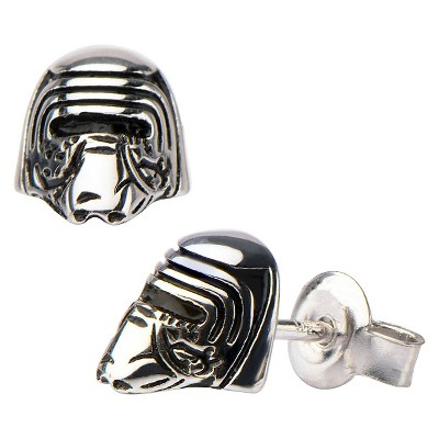Women's Star Wars' Episode VII Kylo Ren 925 Sterling Silver 3D Stud Earrings