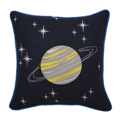 "Space Adventure Embroidered Throw Pillow (15""x15"") - Waverly Kids"