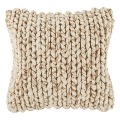 All Over Braid Square Natural/Taupe - Safavieh
