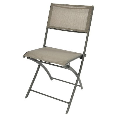 target sling chair tan vintage shelby williams chairs folding patio bistro threshold