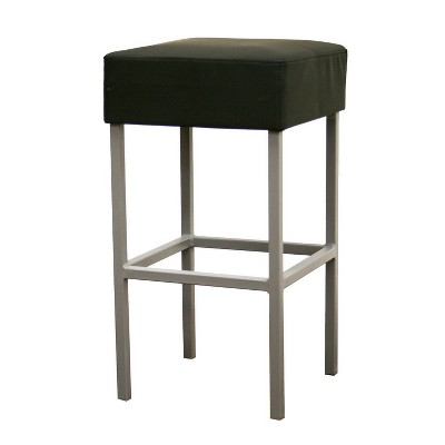 Andante Faux Leather Counter Stool Black - Baxton Studio