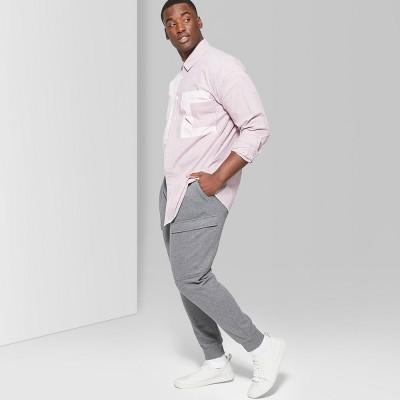 Men's Big & Tall Mid-Rise Knit Cargo Jogger Pants - Original Use™ Quill Gray