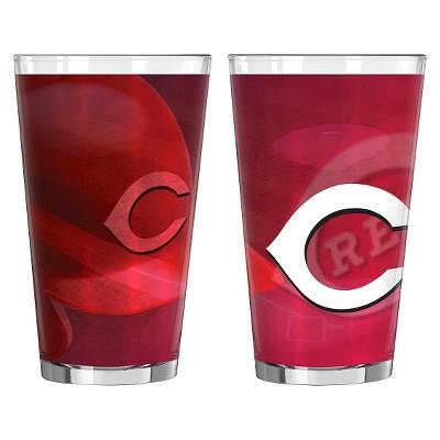 Boelter Brands MLB Cincinnati Reds Set of 2 Shadow Pint Glass - 16oz