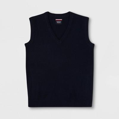 French Toast Boys' Uniform V-Neck Sweater Vest - Navy