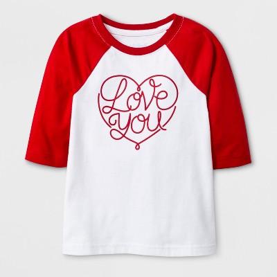 Toddler 3/4 Sleeve 'Love You' Baseball T-Shirt - Cat & Jack™ White