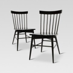 Black Chairs Target Amish Rocking Chair Windsor Dining Set Of 2 Threshold