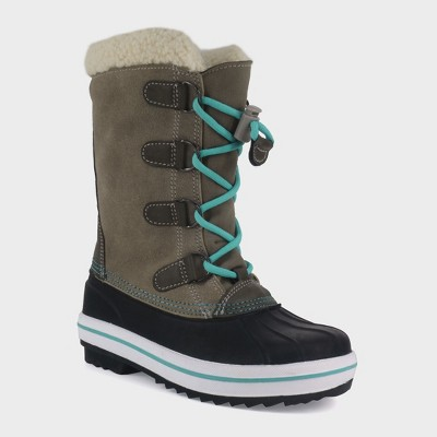 Girls' Paloma Tall Sherpa Winter Boots - Cat & Jack™ Tan