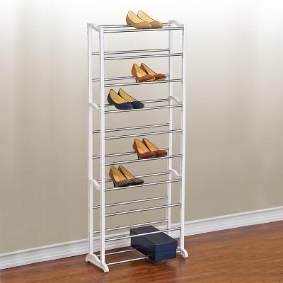 lynk 10 tier 30 pair shoe rack white