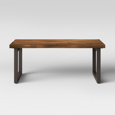 thorald wood top coffee table with metal legs brown project 62