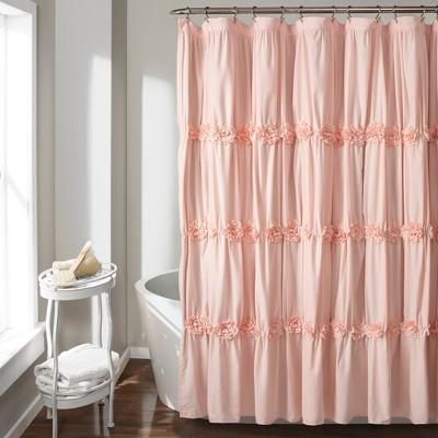 darla texture shower curtain blush pink lush decor