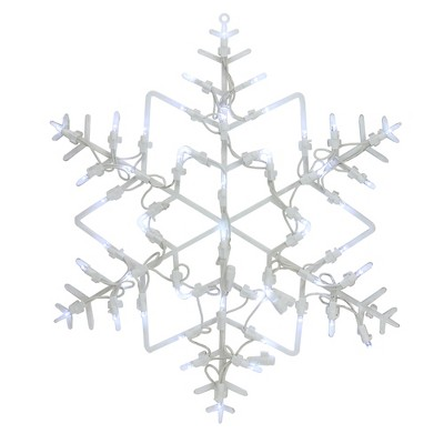 """Northlight 16"""" LED Lighted Snowflake Christmas Window Silhouette Decoration"""