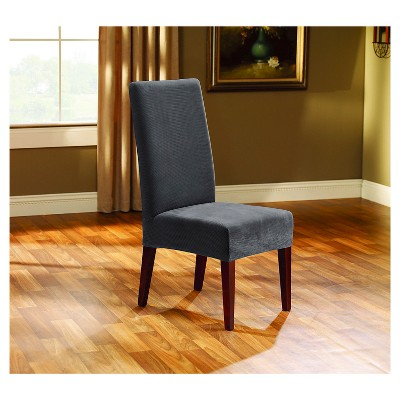 gray chair slipcover oslo posture nz stretch oxford short dining room sure fit target