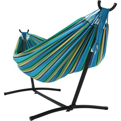 hanging chair rope optometry and stand for sale jumbo hammock swing sea grass sunnydaze decor