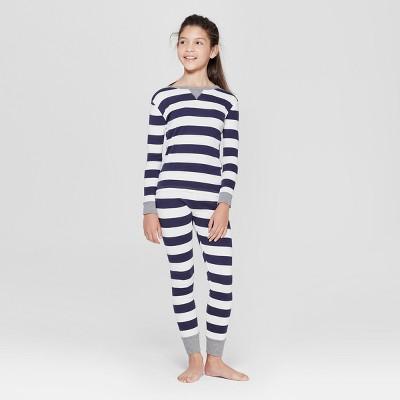 Kid's Striped Pajama Set - Navy