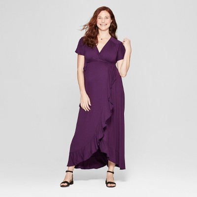 Maternity Knit Wrap Dress - Isabel Maternity by Ingrid & Isabel™ Purple Currant