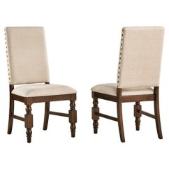 Accent Dining Chairs Grey Chair Slipcovers Fitzgerald Nailhead Side Set Of 2 Inspire Q