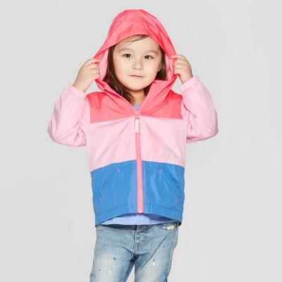 Toddler Girls' Coloblock Windbreaker - Cat & Jack™ Pink