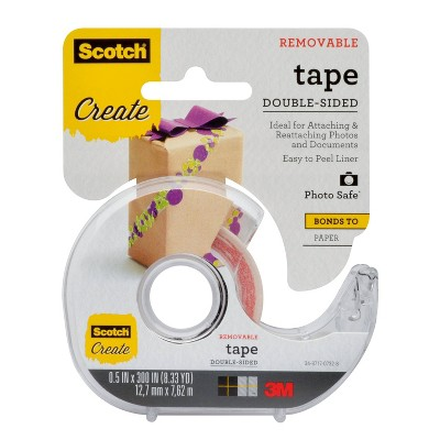 scotch create removable double sided photo safe tape