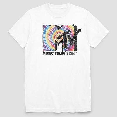 Men's MTV Melted Short Sleeve Graphic T-Shirt - White