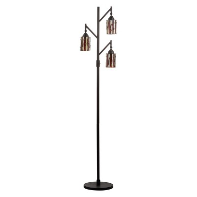 "71"" Clark Tiffany Style Multi Light LED Floor Lamp Bronze (Includes Energy Efficient Light Bulb) - JONATHAN Y"