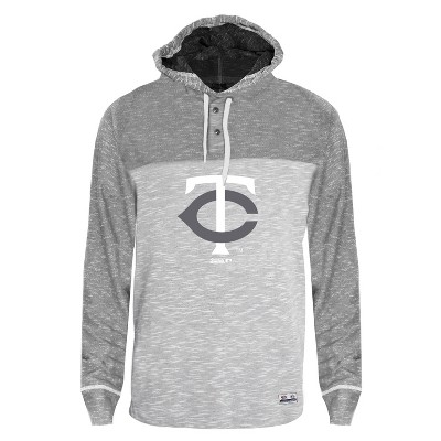 MLB Minnesota Twins Men's Clubhouse Tonal Henley Hoodie