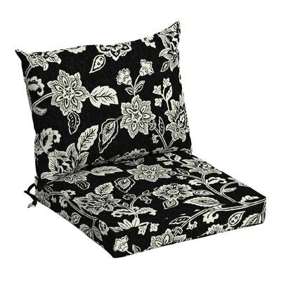 arden selections outdoor dining chair cushion set ashland jacobean