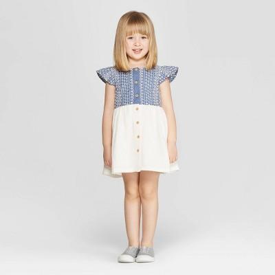 Genuine Kids® from OshKosh Toddler Girls' Eyelet A-Line Dress - White